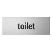 Aluminium deurbordje 'Toilet' rechthoekig