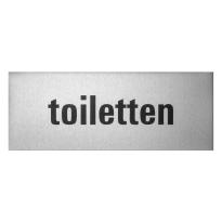Aluminium deurbordje 'Toiletten' rechthoekig
