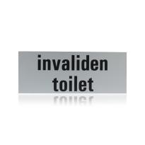 Aluminium toilet bordje 'Invalidentoilet' rechthoekig