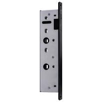 Austria bad/wc slot zwart smal met magneet t.b.v. Nero Legno stompe deur