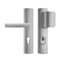 AXA 6665 Curve aluminium D-knop/kruk veiligheidsgarnituur voor buitendeuren met kerntrekbeveiliging