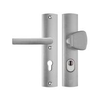 AXA 6665 Curve aluminium S-knop/kruk veiligheidsgarnituur voor buitendeuren met kerntrekbeveiliging