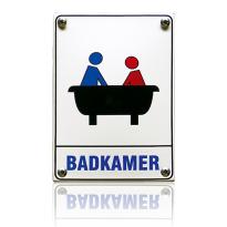 'Badkamer' emaille pictogram rechthoekig