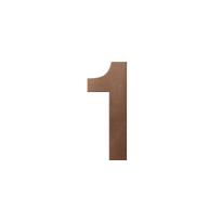 Bronze blend huisnummer 1 L, 200 mm