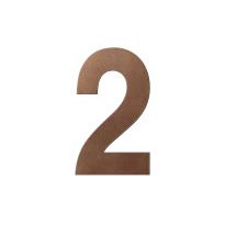 Bronze blend huisnummer 2 XL, 250 mm