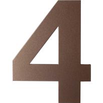 Bronze blend huisnummer 4 plat, 150 mm