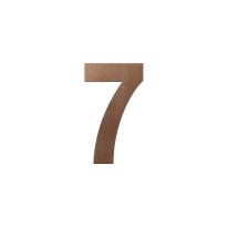 Bronze blend huisnummer 7 L, 200 mm