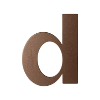 Bronze blend letter D plat, 110 mm