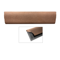 CC Briefplaat binnen met kunststof houder en luxe RVS klep in finish Bronze blend