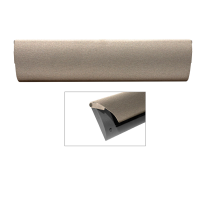 CC Briefplaat binnen met kunststof houder en luxe RVS klep in finish Mocca blend
