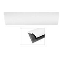 CC Briefplaat binnen met kunststof houder en luxe RVS klep voorzien van witte poedercoating