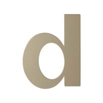 Champagne blend letter D plat, 110 mm