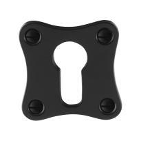 Cilinderrozet GPF6902.09 52x52x5mm smeedijzer zwart