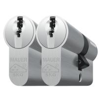 Cilinderslot Mauer, F3P serie, dubbele cilinder gelijksluitend per 2