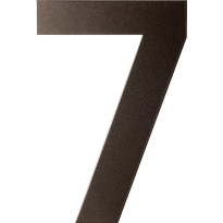 Dark blend huisnummer 7 plat, 150 mm