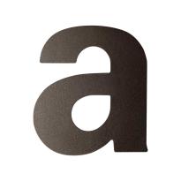 Dark blend letter A plat, 110 mm