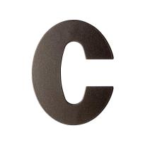 Dark blend letter C plat, 110 mm