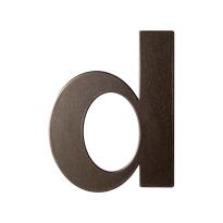 Dark blend letter D plat, 110 mm