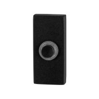 Deurbel GPF8826.01 zwart rechthoekig 70x32x10mm