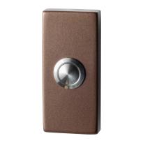 Deurbel GPF9827.A2.1101 Bronze blend rechthoekig 70x32x10 mm
