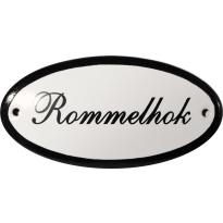 Deurbordje ovaal 'Rommelhok', emaille
