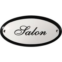 Deurbordje ovaal 'Salon', emaille