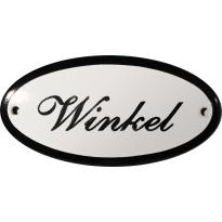 Deurbordje ovaal  'Winkel', emaille