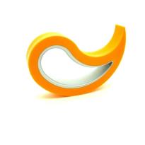 Deurstopper Stoppy oranje, 10x8x2 cm