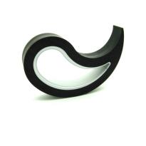 Deurstopper Stoppy zwart, 10x8x2 cm