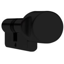 DOM Plura profielcilinder SKG**, knopcilinder zwart