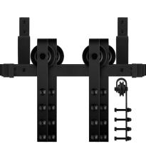 GPF0551.61 dubbel schuifdeursysteem Raskas zwart