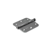 Dulimex kogellagerscharnier enkelwerkend ronde hoeken RVS, 76x76 mm
