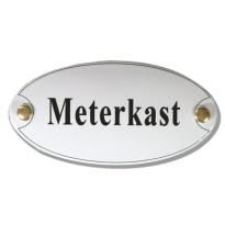 Emaille deurbordje 'Meterkast'
