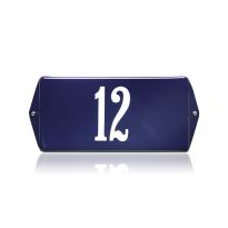 Emaille huisnummer blauw, 200 x 100 mm