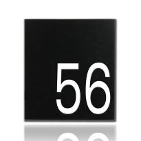 Emaille huisnummer Robina zwart, 160 x 180 mm