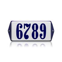 Emaille huisnummer wit, 200 x 100 mm