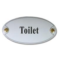 Emaille toilet bordje 'Toilet'