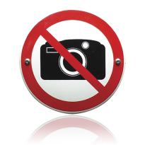 Emaille verbodsbord 'Verboden te fotograferen' rond