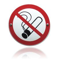Emaille verbodsbord 'Verboden te roken' rond