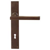 FM363 M deurkruk op schild blind geveerd