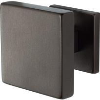 GPF9825.A1 vierkante voordeurknop op rozet Dark blend 70x70 mm