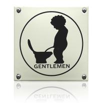 'Herentoilet' emaille pictogram vierkant