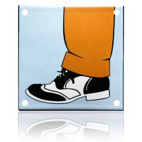 'Herentoilet' pictogram emaille vierkant