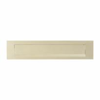 Hoppe 403 aluminium F2 - champagne rechthoekige briefplaat, 73x338 mm