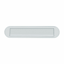 Hoppe aluminium F1 curved briefplaat 73x350mm, klep met veermechanisme