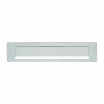 Hoppe aluminium F1 rechthoekige briefplaat 73x338mm, klep met veermechanisme