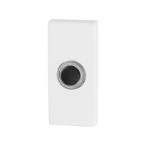 Huisbel GPF8826.41 rechthoekig 70x32x10mm wit