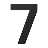 Huisnummer 7 zwart, 150 mm