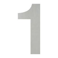 Huisnummer modern RVS 1 plat, 150 mm