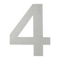 Huisnummer modern RVS 4 plat, 150 mm